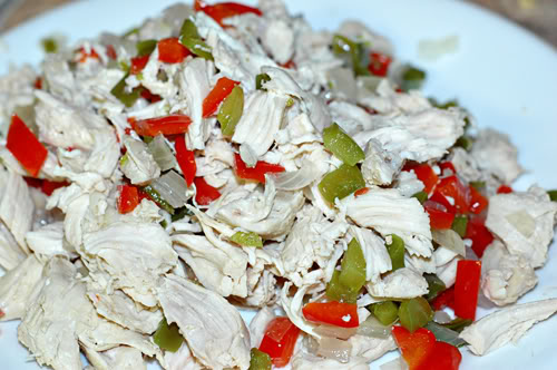 Shredded Chicken with Bell Peppers