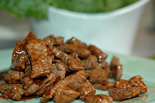 Cooked slice beef