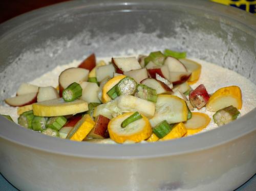Vegetable Mixture in Cornmeal
