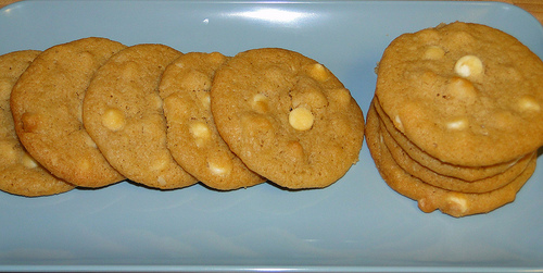 Macadamia nut cookies white chocolate