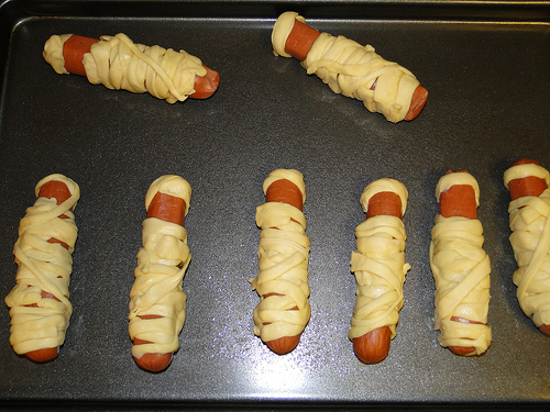 Crescent Mummy Dogs Uncooked