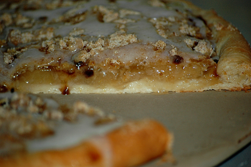 Apple Crumb Dessert Pizza