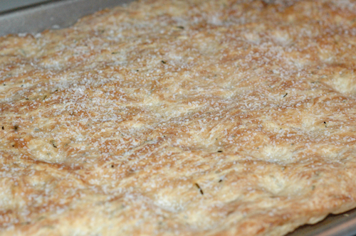 Rosemary Focaccia Bread Cooked