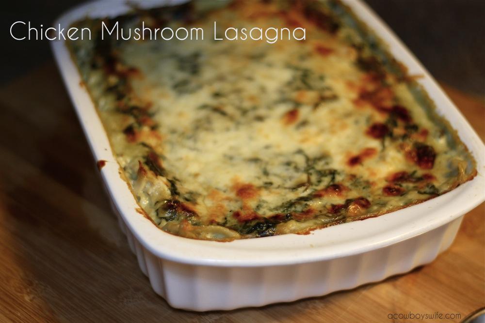 Chicken Mushroom Lasagna Recipe