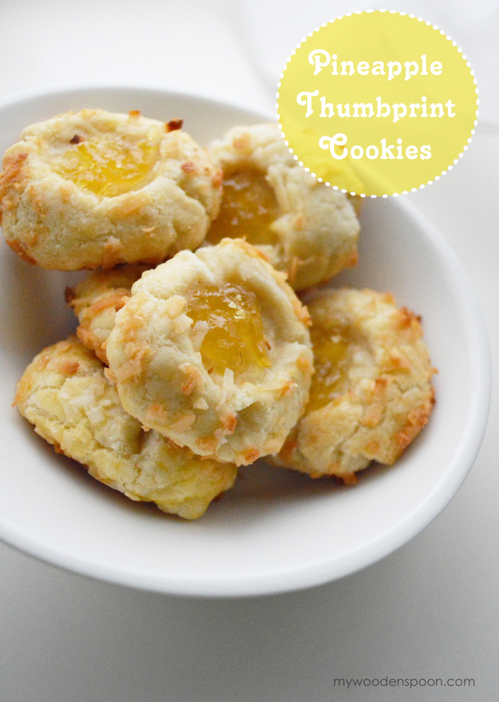 Pineapple Thumbprint Cookies with Coconut - A Cowboy's Wife