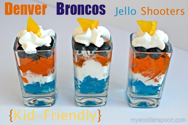 Denver Broncos Jello Shooters for Kids