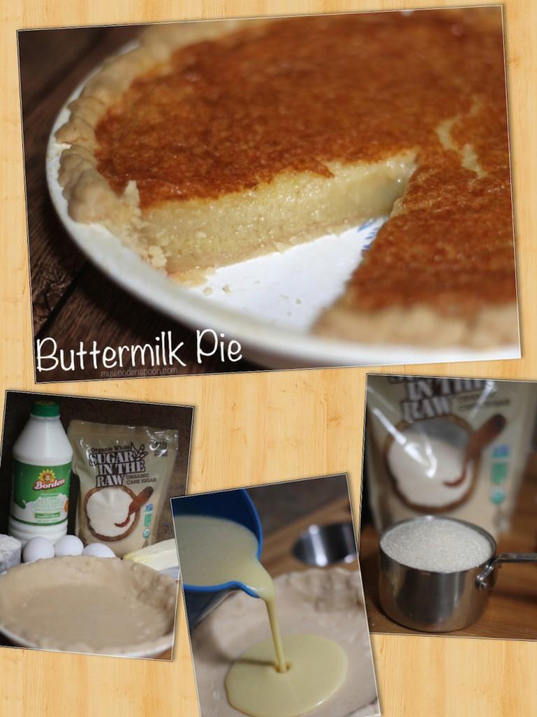 Buttermilk Pie Collage