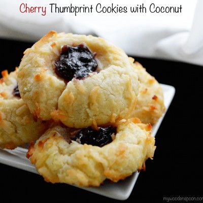 Recipe: Cherry Thumbprint Cookies with Coconut