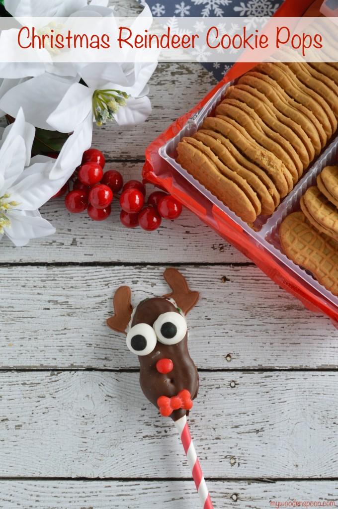Christmas Reindeer Cookie Pops