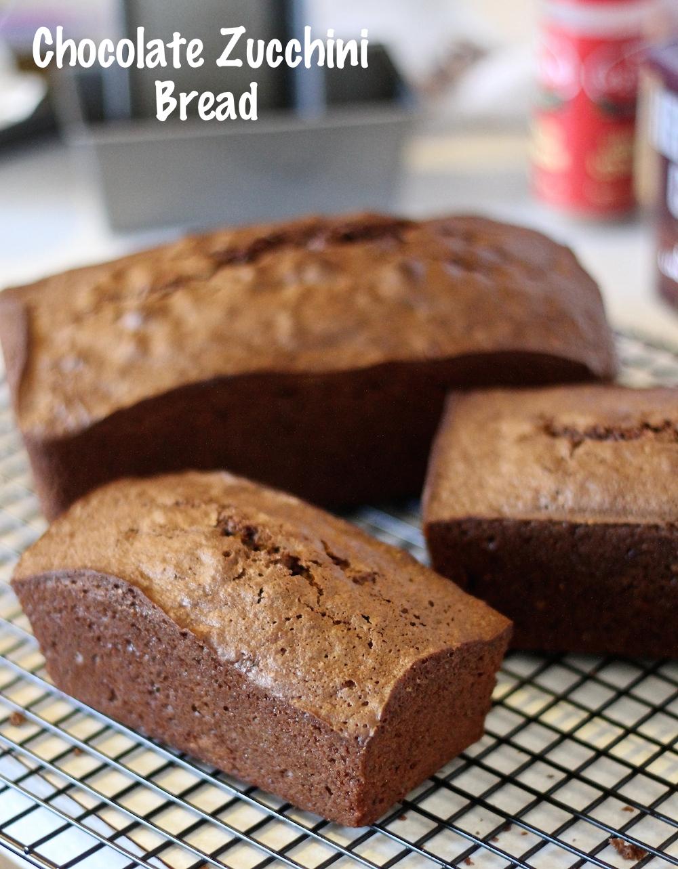 Chocolate Zucchini Bread Loaves