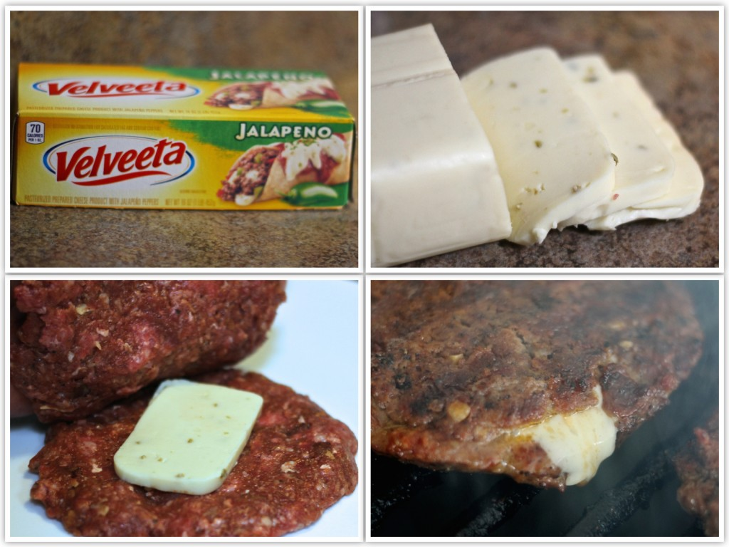 Jalapeno Cheese bacon burger collage