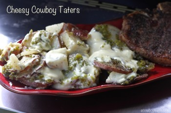 Cheesy Cowboy Taters (that's potatoes for you city folk)