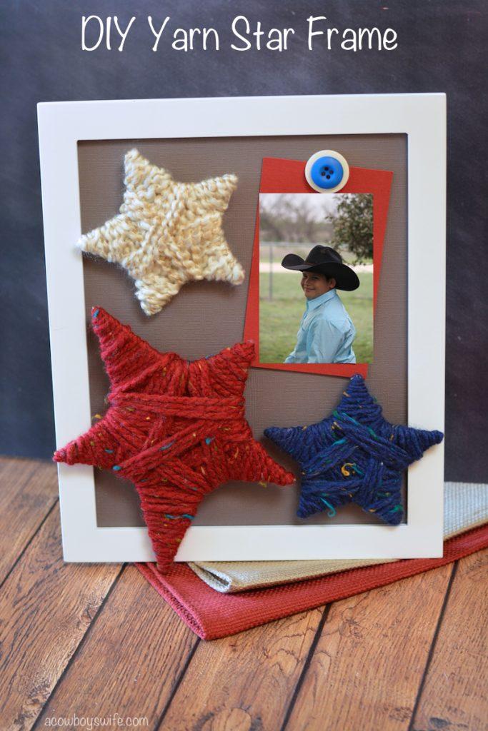 DIY Yarn Star Frame