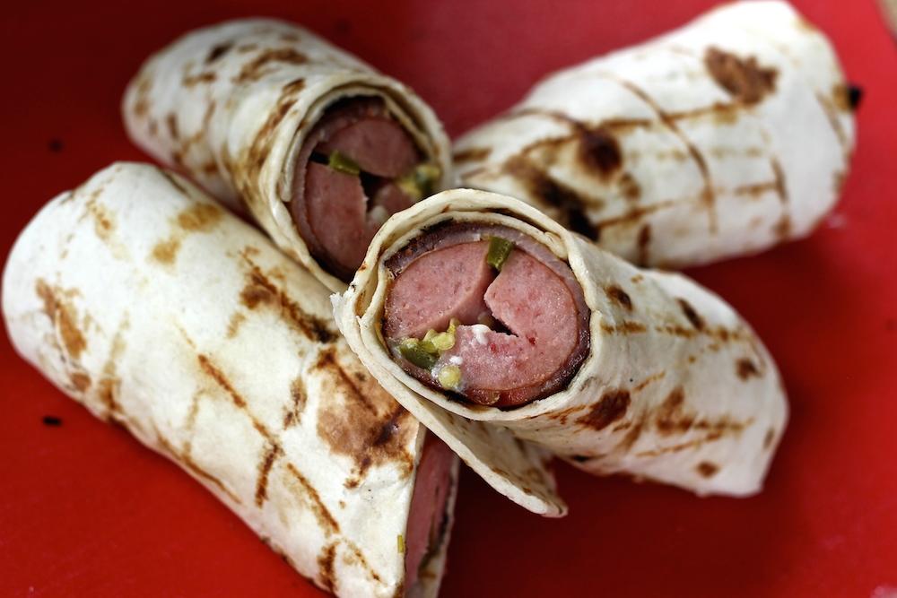 Cheesy Jalapeno Sausage Wraps