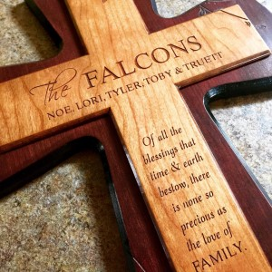 Fine craftsmanship without the high prices! Quality wood, beautiful engraving, and personalized.
