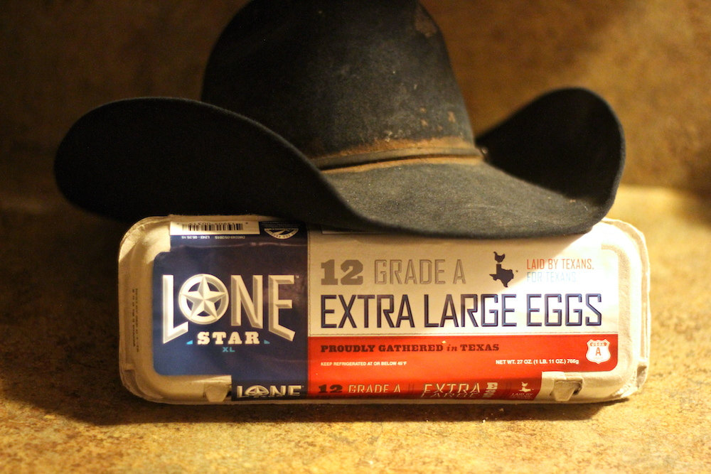 Lone Star Eggs Carton