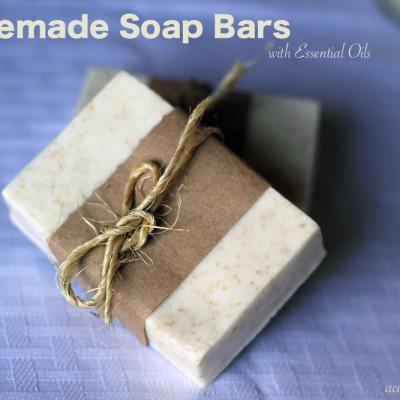 Homemade Soap Bars with Essential Oils
