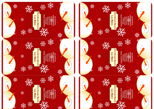 Christmas Spirit labels overview