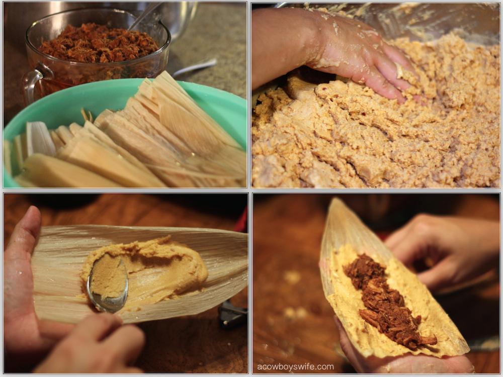 Homemade Tamales Steps