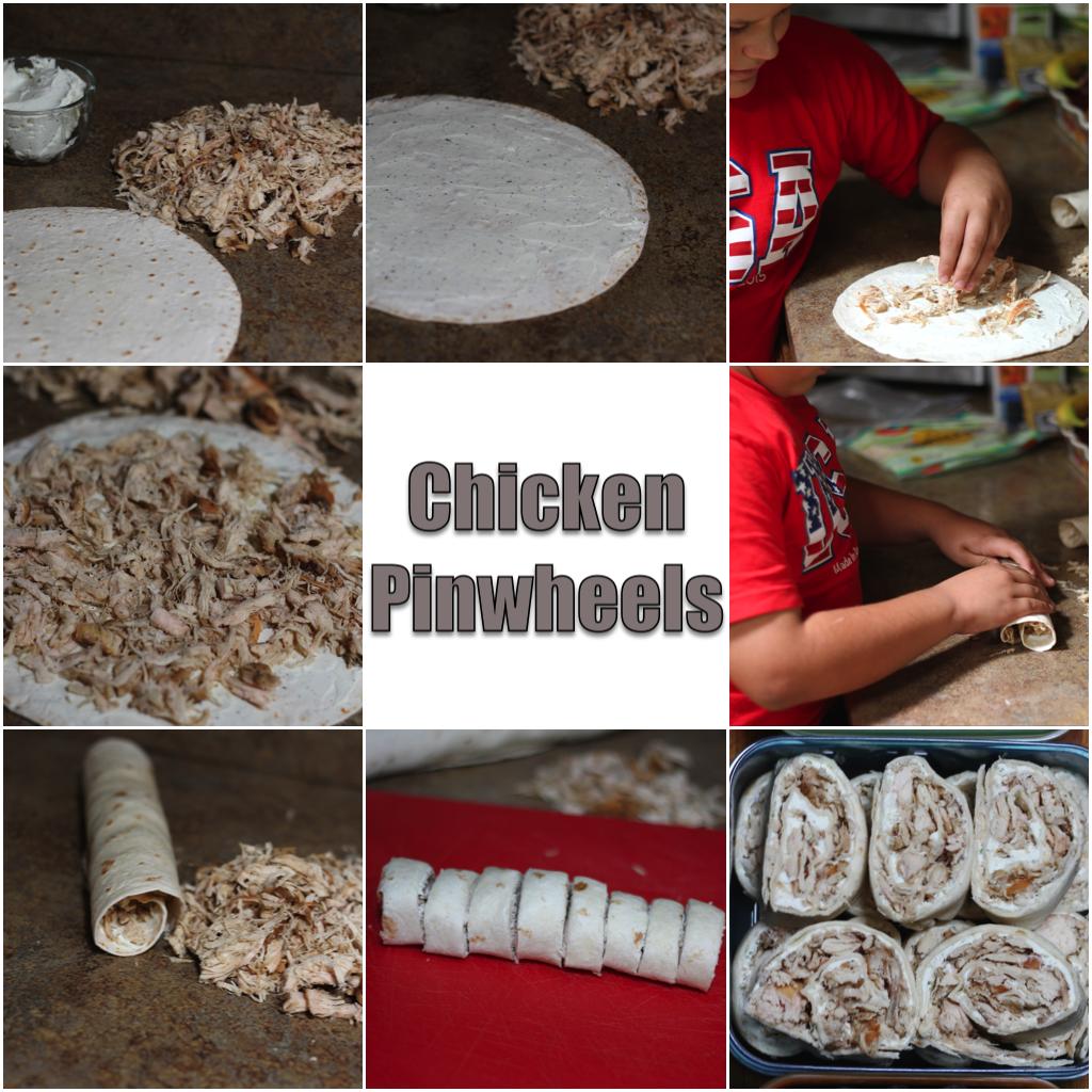 Chicken Pinwheels collage