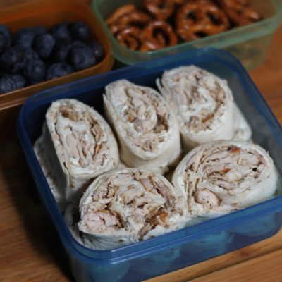 Back to School Bento Box Idea – Chicken Pinwheels