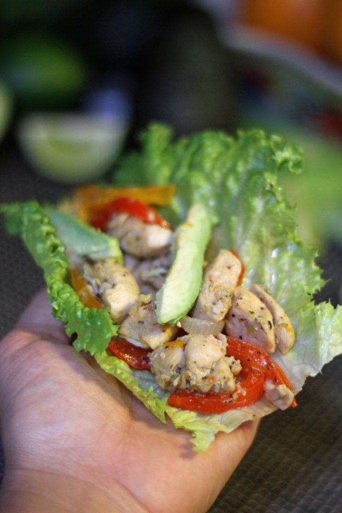 Spicy Chicken Fajita Lettuce Wraps
