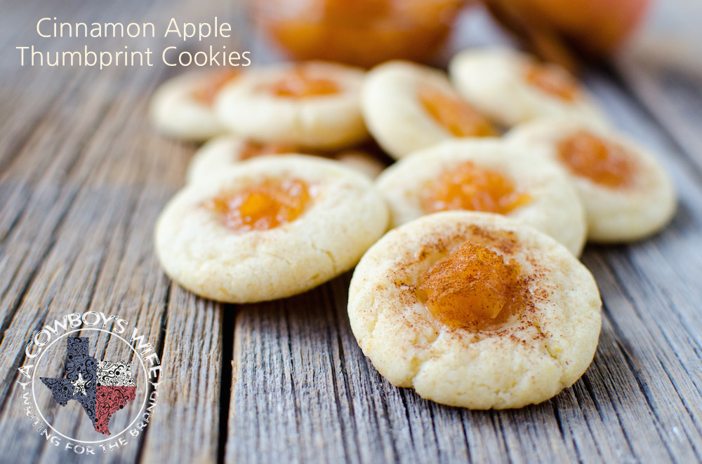 Easy 3 Ingredient Cinnamon Apple Thumbprint Cookies