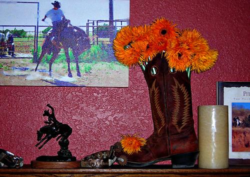 Fresh Flower Arrangement, Cowboy Style
