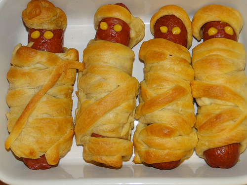 Crescent Mummy Dogs for Halloween