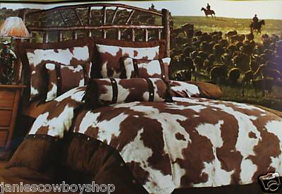 Cowhide comforter