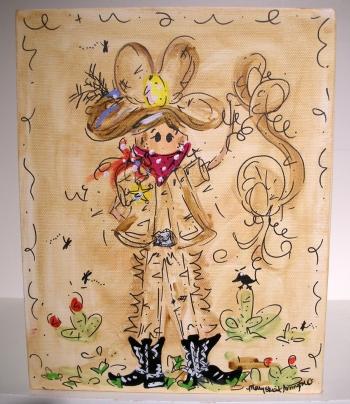 8x10 cowboy canvas