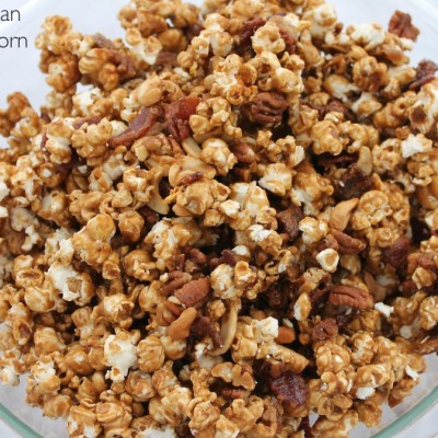 Bacon Pecan Caramel Corn for a Crowd #ThinkFisher