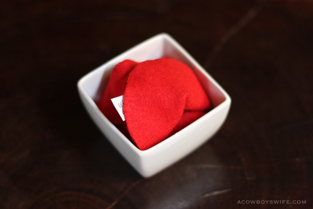 Chinese Felt Fortune Cookies