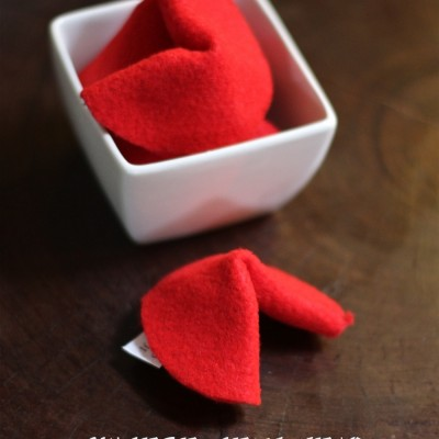 Chinese New Year Felt Fortune Cookies Craft