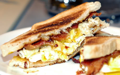 Country Fried Breakfast Sandwich - A Cowboy's Wife