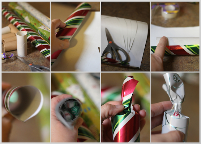 DIY Christmas Present Party Favor Instructions