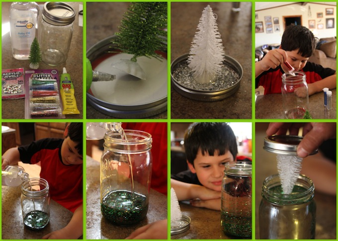 DIY Snow Globe Collage