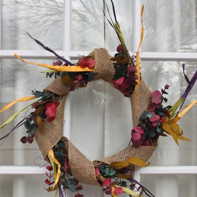 DIY Wreath Craft with Matching Table Centerpiece, for Thanksgiving