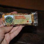 organic cranberry crunch bars