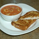Tortellini, Tomato Soup with Grilled Cheese