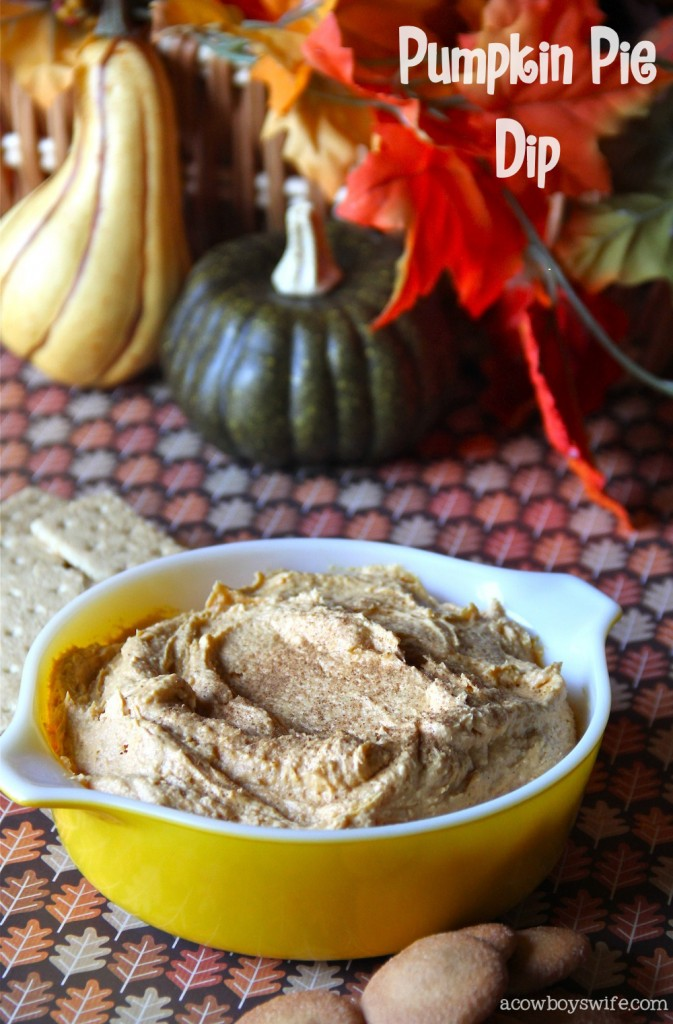 Fall Pumpkin Pie Dip