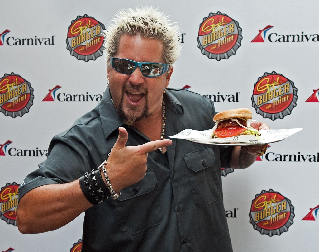 Guy Fieri shows off burger created for Carnival Cruise Lines in New York