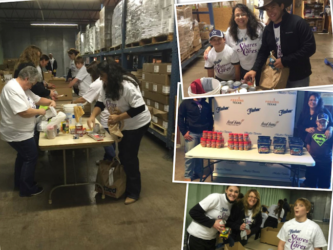 Fisher Nuts shares and cares event