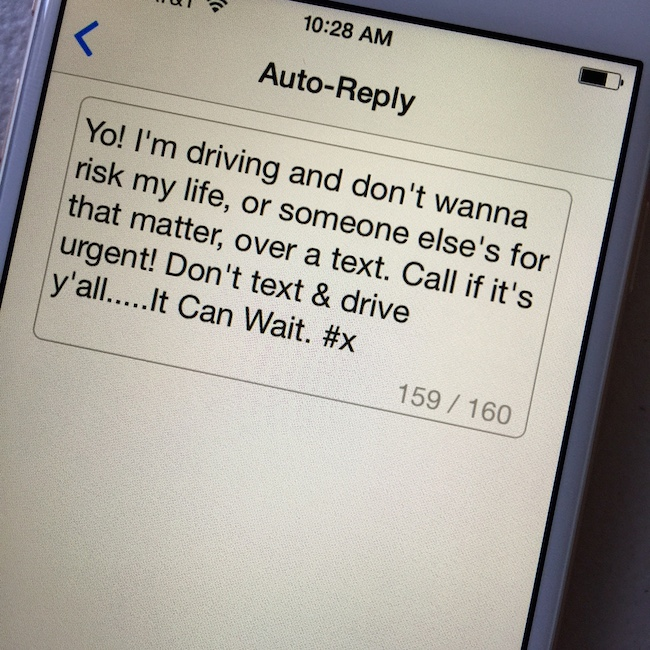 Customized Auto-Reply DriveMode
