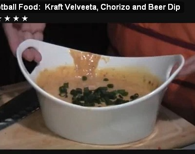 Get Your Munch On During the Game with VELVEETA Beer and Chorizo Dip!