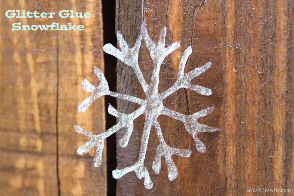 Glittered Glue Snowflake Craft