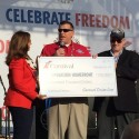 Carnival Cruise President Presents Check to Operation Homefront