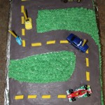 5th Birthday Racetrack Car Cake