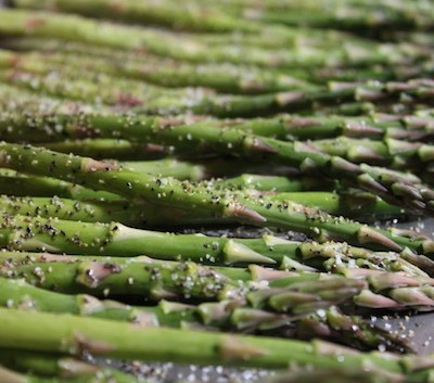 Grilled Asparagus Using Olive Oil