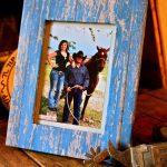 Rustic Photo Frame Using Scrapbook Paper